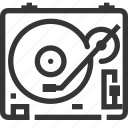 long play, music player, record player, retro, turntable, vinyl icon