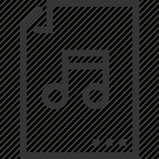 audio, bl, document, file, music, sound icon