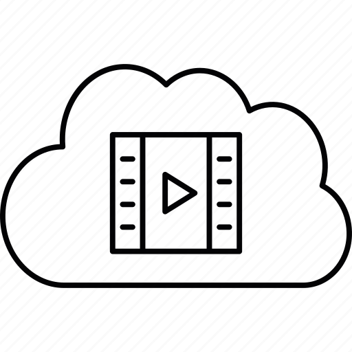 cloud, media, server, storage icon