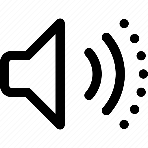 medium, sound speaker, speaker, speaker volume, volume, volume control icon
