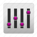change, customize, equalizer, level, levels, music, setting, settings icon
