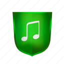green, guard, ok, privacy, protect, protection, security, sound icon