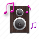 acoustic, acoustics, home, homelike, melody, music, mute, play, player, song, sound, speaker, wood icon