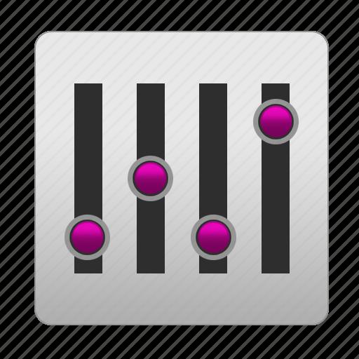 change, customize, equalizer, level, levels, music, setting, settings icon