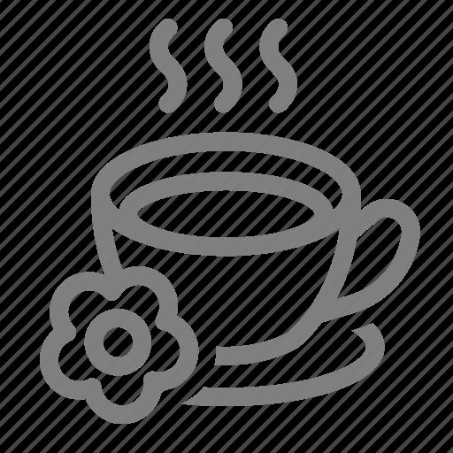 beverage, hot, relax, spa, tea icon