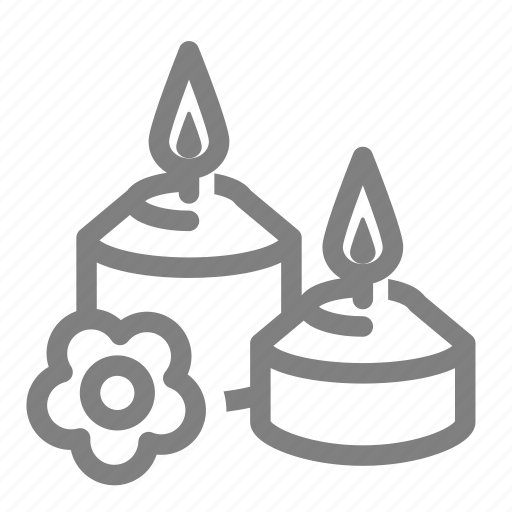 aroma, aroma candle, candle, flower, scent, spa, therapy icon