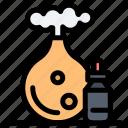 aroma, bottle, oil, spa icon