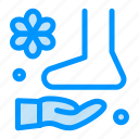 foot, massage, relax, spa, therapy icon