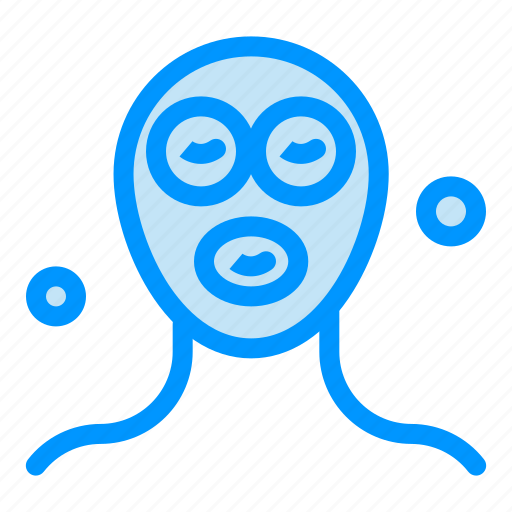 beauty, cosmetics, facial, mask, relaxation icon