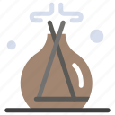 green, incense, lab, spa icon