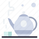 green, tea, teapot icon