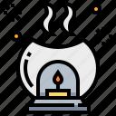 aroma, aromatherapy, lamp, relax, spa icon