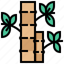bamboo, left, relax, spa, tree icon