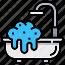 bath, bathroom, bathtub, clean, spa icon