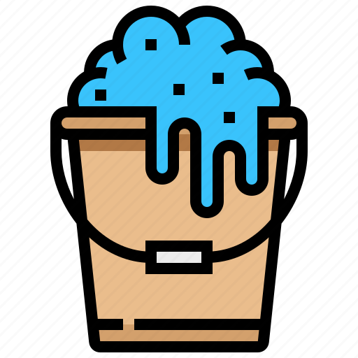 bucket, clean, spa, water icon