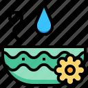 water, spa, flower, bowl