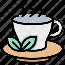 beverage, relax, spa, tea icon