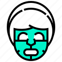 face, mask, spa, treatment icon
