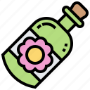 aromatherapy, bottle, essential, relaxation, scent icon