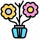 aromatic, diffuser, evaporated, reed, vase icon