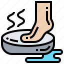 bath, cleaning, foot, pedicure, washing icon
