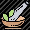 aromatherapy, healthy, herb, medicine, mortar icon