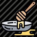 dripper, honey, spoon, sweet, wooden icon