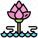 flower, lily, lotus, pond, water icon