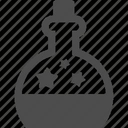 bottle, kitchenware, spa, star icon