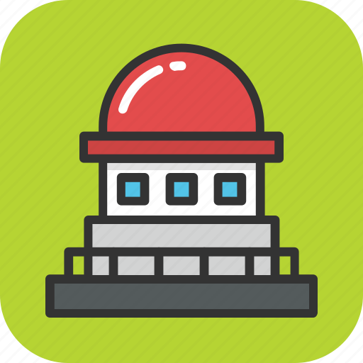 astronomical observatory, cosmology, lookout station, observation tower, spaceship icon