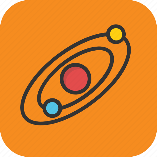 copernican system, heliocentric system, orbit, planetary system, solar system, space icon