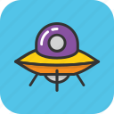 saucer, ship, spacecraft, spaceship, ufo icon