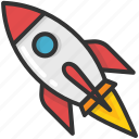 missile, rocket, space, spacecraft, spaceship icon