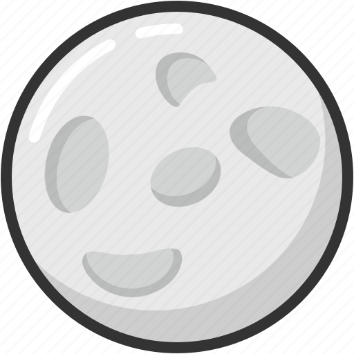 moon, orb, planet, satellite, universe icon