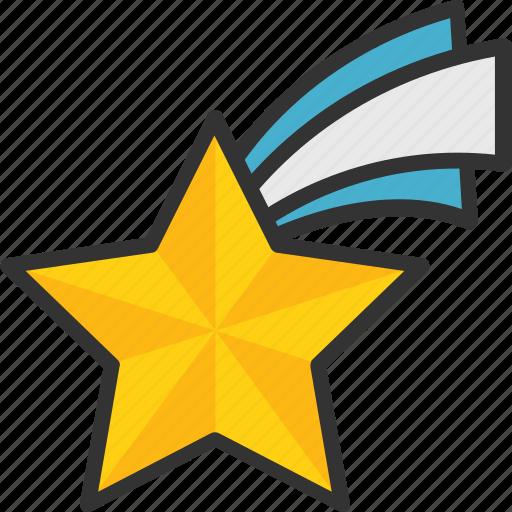 falling star, flying star, meteorite, shooting star, star icon