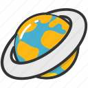 globe, orb, planet, satellite, universe icon