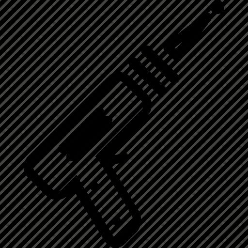 beam, futuristic, gun, rail icon