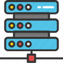 database, network server, server, server storage, web hosting icon