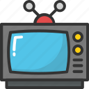 old tv, retro tv, tv, tv set, vintage tv icon