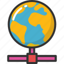 global network, globe, internet connection, networking, web client icon