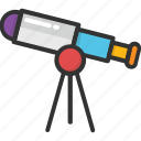 astronomy, search, spyglass, telescope, vision icon