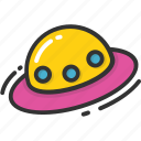 saucer, ship, spacecraft, spaceship, ufo icon
