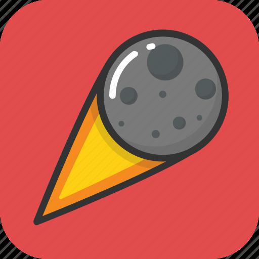 asteroid, explode, luminous body, meteorite, planetoid icon