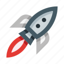 rocket, startup, spaceship, spacecraft, space, launch, astronomy icon