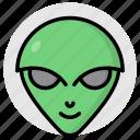 alien, extraterrestrial, martian, face, lifeform