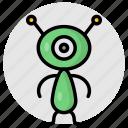alien, extraterrestrial, martian, space, lifeform