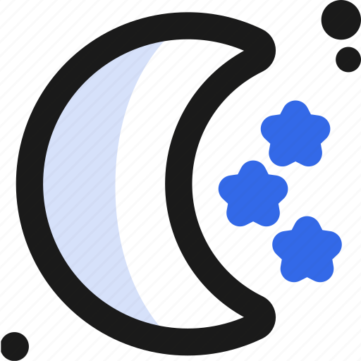 moon, night, rest, solar, space, stars, system icon