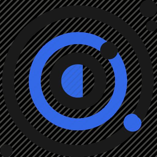 atom, orbital, solar, system icon