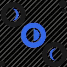 align, eclipse, planets, process icon
