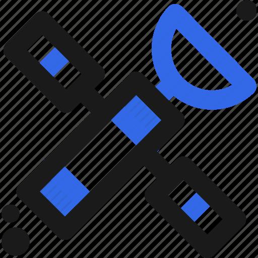 communicate, data, geo, gps, location, position, satellite icon